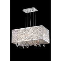 Elegant Lighting Mirage 4 Light Dining Chandelier in Chrome with Royal Cut Clear Crystal 7901D21C/RC