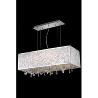 Elegant Lighting Mirage 5 Light Dining Chandelier in Chrome with Royal Cut Clear Crystal 7901D29C/RC