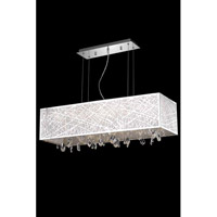 Elegant Lighting Mirage 6 Light Dining Chandelier in Chrome with Royal Cut Clear Crystal 7901D34C/RC