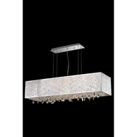 Elegant Lighting Mirage 7 Light Dining Chandelier in Chrome with Royal Cut Clear Crystal 7901D41C/RC