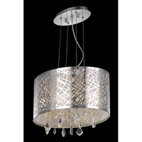Elegant Lighting Mirage 3 Light Dining Chandelier in Chrome with Royal Cut Clear Crystal 7902D17C/RC