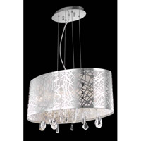 Elegant Lighting Mirage 4 Light Dining Chandelier in Chrome with Royal Cut Clear Crystal 7902D21C/RC