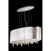 Elegant Lighting Mirage 5 Light Dining Chandelier in Chrome with Royal Cut Clear Crystal 7902D29C/RC