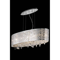 Elegant Lighting Mirage 6 Light Dining Chandelier in Chrome with Royal Cut Clear Crystal 7902D35C/RC