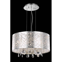 Elegant Lighting Mirage 5 Light Dining Chandelier in Chrome with Royal Cut Clear Crystal 7903D21C/RC