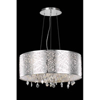 Elegant Lighting Mirage 6 Light Dining Chandelier in Chrome with Royal Cut Clear Crystal 7903D25C/RC
