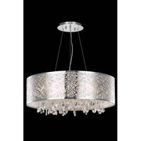 Elegant Lighting Mirage 9 Light Dining Chandelier in Chrome with Royal Cut Clear Crystal 7903D30C/RC