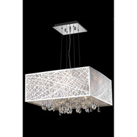 Elegant Lighting Mirage 5 Light Dining Chandelier in Chrome with Royal Cut Clear Crystal 7904D21C/RC