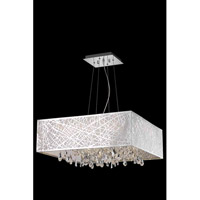 Elegant Lighting Mirage 9 Light Dining Chandelier in Chrome with Royal Cut Clear Crystal 7904D26C/RC