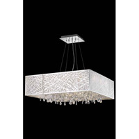 Elegant Lighting Mirage 13 Light Dining Chandelier in Chrome with Royal Cut Clear Crystal 7904D32C/RC