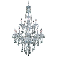 Elegant Lighting Verona 15 Light Foyer in Chrome with Swarovski Strass Golden Teak Crystal 7915G33C-GT/SS