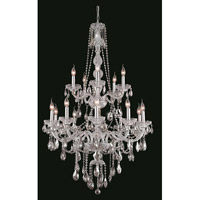 Verona 15 Light 33 inch Chrome Foyer Ceiling Light in Clear, Elegant Cut