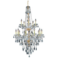 Elegant Lighting Verona 15 Light Foyer in Gold with Swarovski Strass Clear Crystal 7915G33G/SS