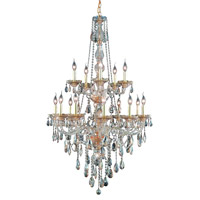 Elegant Lighting Verona 15 Light Foyer in Golden Shadow with Swarovski Strass Golden Shadow Crystal 7915G33GS-GS/SS