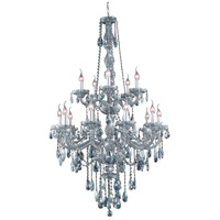 Elegant Lighting Verona 15 Light Foyer in Silver Shade with Royal Cut Silver Shade Crystal 7915G33SS-SS/RC
