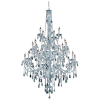 Verona 25 Light 43 inch Chrome Foyer Ceiling Light in Clear, Elegant Cut