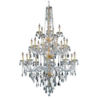 Verona 25 Light 43 inch Gold Foyer Ceiling Light in Clear, Elegant Cut