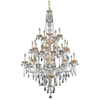Elegant Lighting Verona 25 Light Foyer in Golden Shadow with Royal Cut Golden Shadow Crystal 7925G43GS-GS/RC