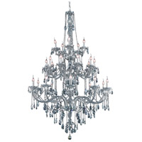 Elegant Lighting Verona 25 Light Foyer in Silver Shade with Royal Cut Silver Shade Crystal 7925G43SS-SS/RC