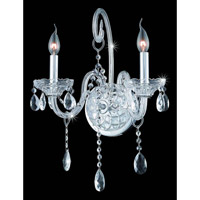 Elegant Lighting Verona 2 Light Wall Sconce in Chrome with Elegant Cut Clear Crystal 7952W2C/EC alternative photo thumbnail