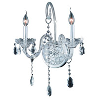 Elegant Lighting Verona 2 Light Wall Sconce in Chrome with Swarovski Strass Clear Crystal 7952W2C/SS