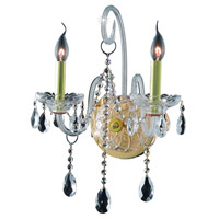 Elegant Lighting Verona 2 Light Wall Sconce in Gold with Royal Cut Clear Crystal 7952W2G/RC