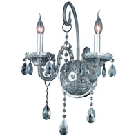 Elegant Lighting Verona 2 Light Wall Sconce in Silver Shade with Swarovski Strass Silver Shade Crystal 7952W2SS-SS/SS