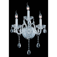 Verona 3 Light 14 inch Chrome Wall Sconce Wall Light in Clear, Royal Cut