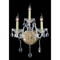 Elegant Lighting Verona 3 Light Wall Sconce in Gold with Royal Cut Clear Crystal 7953W3G/RC alternative photo thumbnail