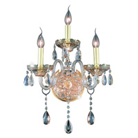 Elegant Lighting Verona 3 Light Wall Sconce in Golden Shadow with Swarovski Strass Golden Shadow Crystal 7953W3GS-GS/SS