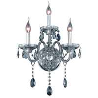 Elegant Lighting Verona 3 Light Wall Sconce in Silver Shade with Royal Cut Silver Shade Crystal 7953W3SS-SS/RC
