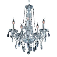 Elegant Lighting Verona 5 Light Dining Chandelier in Chrome with Royal Cut Clear Crystal 7955D21C/RC alternative photo thumbnail