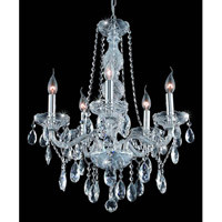 Elegant Lighting 7955D21C/EC Verona 5 Light 21 inch Chrome Dining Chandelier Ceiling Light in Clear, Elegant Cut alternative photo thumbnail