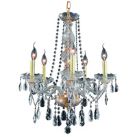 Elegant Lighting 7955D21G/RC Verona 5 Light 21 inch Gold Dining Chandelier Ceiling Light in Clear Royal Cut