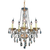 Elegant Lighting Verona 5 Light Dining Chandelier in Golden Shadow with Royal Cut Golden Shadow Crystal 7955D21GS-GS/RC