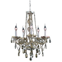 Elegant Lighting Verona 5 Light Dining Chandelier in Golden Teak with Royal Cut Golden Teak Crystal 7955D21GT-GT/RC