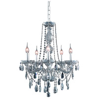 Elegant Lighting 7955D21SS-SS/RC Verona 5 Light 21 inch Silver Shade Dining Chandelier Ceiling Light in Royal Cut