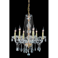Elegant Lighting 7956D24G/SS Verona 6 Light 24 inch Gold Dining Chandelier Ceiling Light in Clear, Swarovski Strass alternative photo thumbnail