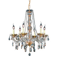 Elegant Lighting Verona 6 Light Dining Chandelier in Golden Shadow with Swarovski Strass Golden Shadow Crystal 7956D24GS-GS/SS