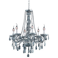 Elegant Lighting Verona 6 Light Dining Chandelier in Silver Shade with Royal Cut Silver Shade Crystal 7956D24SS-SS/RC