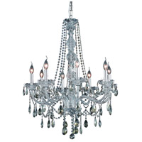 Elegant Lighting Verona 8 Light Dining Chandelier in Chrome with Swarovski Strass Golden Teak Crystal 7958D28C-GT/SS