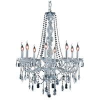 Elegant Lighting Verona 8 Light Dining Chandelier in Chrome with Elegant Cut Clear Crystal 7958D28C/EC