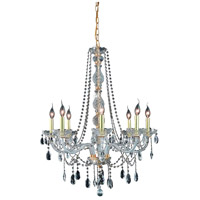 Elegant Lighting Verona 8 Light Dining Chandelier in Gold with Swarovski Strass Clear Crystal 7958D28G/SS