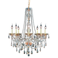 Elegant Lighting Verona 8 Light Dining Chandelier in Golden Shadow with Swarovski Strass Golden Shadow Crystal 7958D28GS-GS/SS