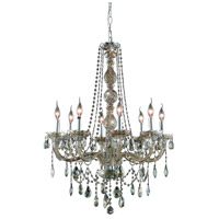Elegant Lighting 7958D28GT-GT/RC Verona 8 Light 28 inch Golden Teak Dining Chandelier Ceiling Light in Royal Cut