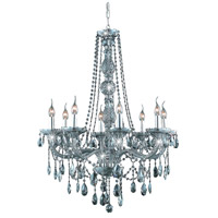 Elegant Lighting Verona 8 Light Dining Chandelier in Silver Shade with Swarovski Strass Silver Shade Crystal 7958D28SS-SS/SS