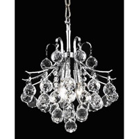Elegant Lighting Toureg 3 Light Pendant in Chrome with Royal Cut Clear Crystal 8000D12C/RC