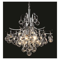 Elegant Lighting Toureg 6 Light Dining Chandelier in Chrome with Elegant Cut Clear Crystal 8000D16C/EC