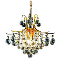 Elegant Lighting V8000D16G/EC Toureg 6 Light 16 inch Gold Dining Chandelier Ceiling Light in Elegant Cut alternative photo thumbnail