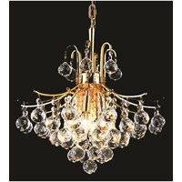 Elegant Lighting Toureg 6 Light Dining Chandelier in Gold with Swarovski Strass Clear Crystal 8000D16G/SS